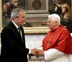 Pope, Benedict, XVI, Bush, George W, Pope meets Bush, USA